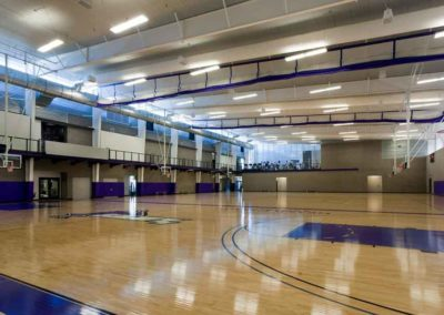 Interior of the basketball courts at Grand Canyon University Athletic facility